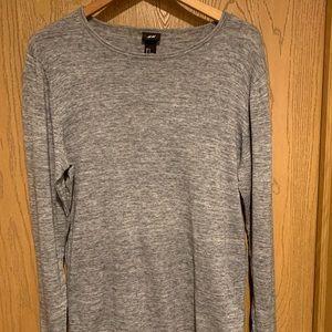 Men's Long Sleeve Grey Sweater form H&M